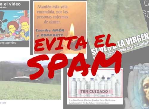 Evita el SPAM en Facebook