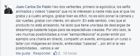Comentario Periscope Juan Carlos de Pablo